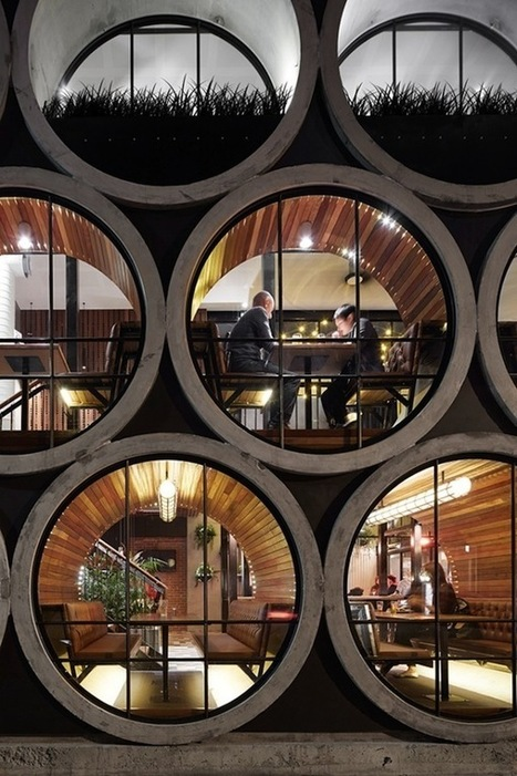 SPOTTED - industrial interior design - a hotel bar built from concrete water tubes | Best of Interior Design | Scoop.it
