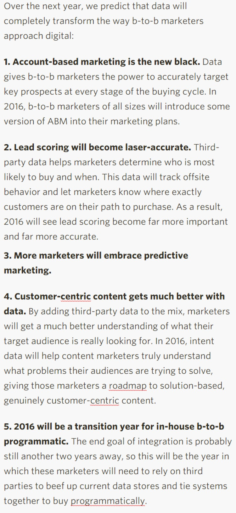 How Data Will Transform B-to-B Marketing in 2016 - Ad Age | The Marketing Technology Alert | Scoop.it