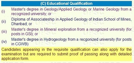 UPSC Geologist 2014 Exam Online Registration and Notification with Eligibility | Sarkari Naukri in India | Scoop.it