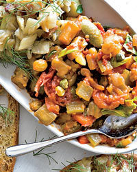 Eggplant Caponata with Golden Raisins Recipe | À Catanada na Cozinha Magazine | Scoop.it