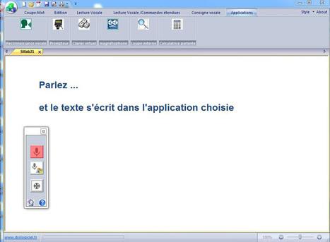Dys-Vocal, logiciel pour dyslexie et dyspraxie visuo-spatiale | L'e-école | Scoop.it