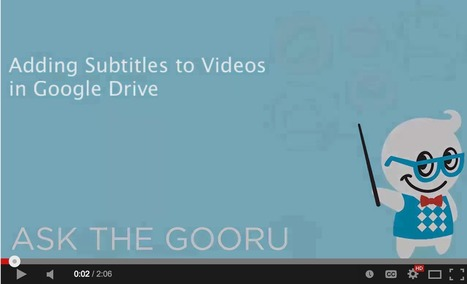 Easy Way to Add Subtitles to Videos in Google Drive | AprendiTIC | Scoop.it