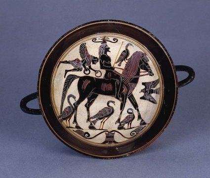 ancientpeoples: Kylix 550-530 BC Archaic... | Eli Block | ARCHAIC period art 800-500BCE | Scoop.it
