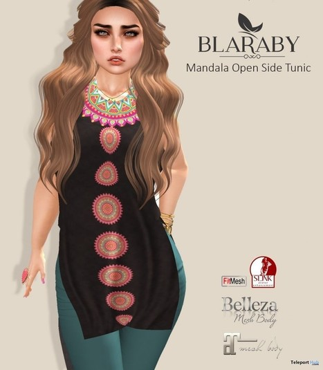 Mandala Open Side Tunic Group Gift by BLARABY | Teleport Hub - Second Life Freebies | Second Life Freebies | Scoop.it