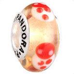 New PANDORA Murano White Ladybugs w/ Sterling Core 790650 [PZ304-MOQ20pc] - $3.50 | Cute Pandora Charms on bracelet-bead.com | Scoop.it