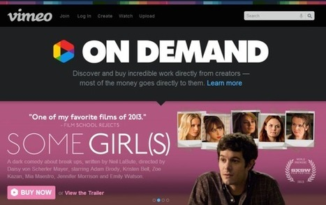 Vimeo On Demand Now Offers Buy Or Rental Options | Hot News on Video Production | Scoop.it