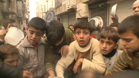 Dec13: #Syria With little left in Aleppo: Children elbow each other for the last burnt scraps of cracked whear | Egyptday1 | News from Syria | Scoop.it