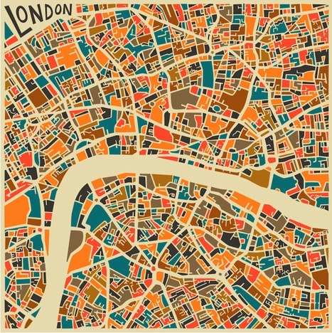Bold Geometric Patterns Form Abstract City Maps... | Art for art's sake... | Scoop.it