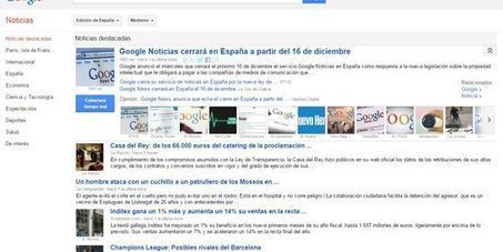 Fermeture de Google News en Espagne | DocPresseESJ | Scoop.it