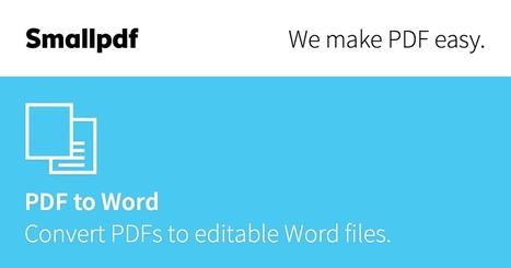 Convertir PDF a Word | Smallpdf - 100% Gratuito | Geopyrenaica | Scoop.it
