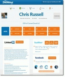 Career Cloud. Faire un Cv à partir de son profil social | Les outils du Web 2.0 | Scoop.it