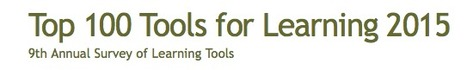 Top 100 Tools for Learning 2015 | K-12 Web Resources | Scoop.it