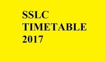 SSLC Timetable/Datasheet 2017 | Mintbeatz | Scoop.it