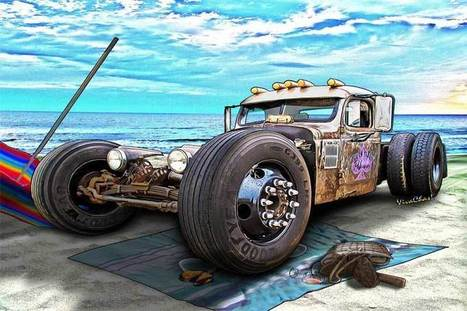 Beach Blanket Rat Rod Another Day at the Beach | VivaChas!  Hot Rod Art | Scoop.it