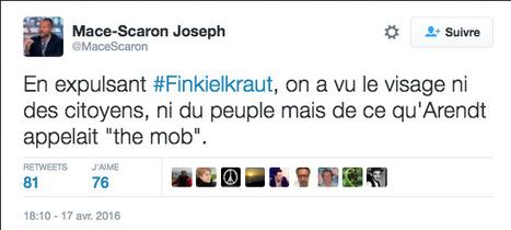 Nuit debout : il faut (encore) sauver le soldat Finkielkraut   Presse en vrac   Scoop.it