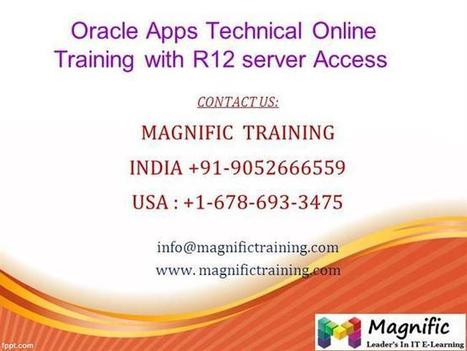 Oracle Apps Technical Online Training With R12 Server Access Ppt P.. | onlinetraining | Scoop.it