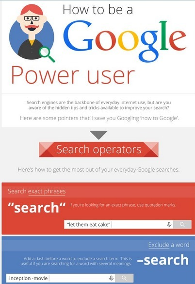 How to be a Google Power User - Infographic | Aspiring Outliers | Scoop.it
