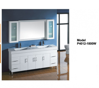 Rossto Vanities - Buy Solid Door Vanity P4012-1800W P4012-1800W at $1,390.00 Online | Custom Made Kitchens Renovation & Designs | Scoop.it