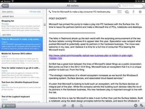 10 iPad apps for the writer - ZDNet | Scriveners' Trappings | Scoop.it