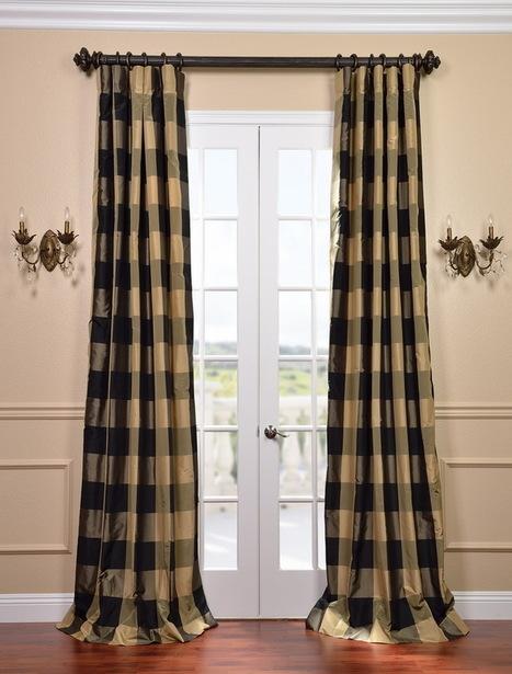Eastwood Silk Taffeta Plaid Curtain | window curtains | Scoop.it