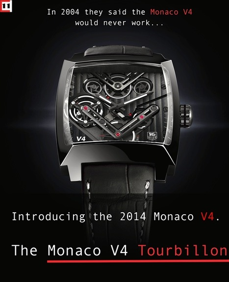 TAG Heuer Monaco V4 Tourbillon | Montre, Horlogerie,Chronos | Scoop.it
