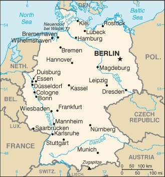 Map of Germany | The Four Perfect Pebbles: Germany | Scoop.it