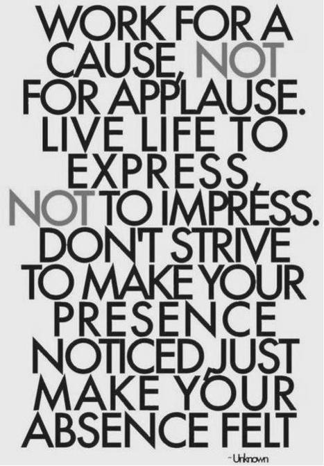 You will be remembered by what you have done when you are not around | Let Live | Scoop.it