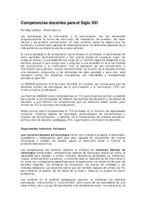 Competencias docentes para el siglo XXI | COMPETENCIA DIGITAL Y EDUCACION | Scoop.it