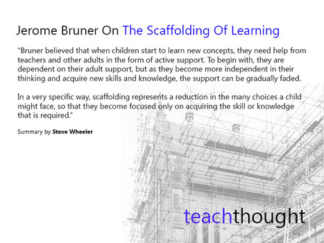 Learning Theories: Jerome Bruner On The Scaffolding Of Learning - | Leadership, Innovation, and Creativity | Scoop.it