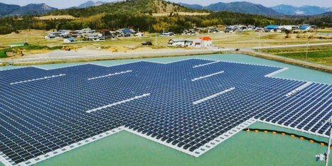 Japanese engineers have built a super-efficient floating solar plant | Some Things Japanese | Scoop.it