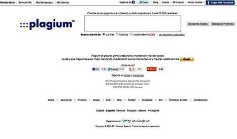Plagium, un buscador especializado en detectar contenido copiado de la red | Educació i orientació escolar | Scoop.it