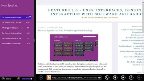 Share to Speech App for Windows 8 Makes Text-to-Speech Seem Incredibly Easy | Productivity | Scoop.it