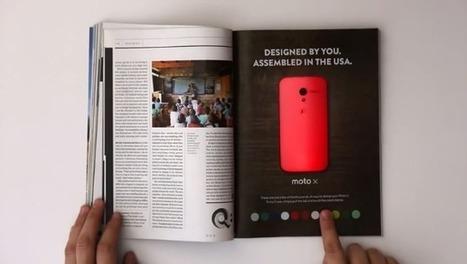 Un anuncio impreso de Motorola que cambia de color cuando lo tocas | Publicidad | Scoop.it