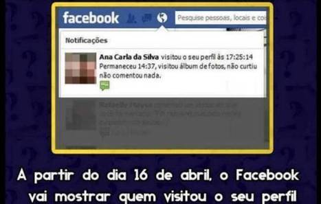 Olhar Digital: Facebook nega inclusão de recurso que avisa quem viu seu perfil | Facebook | Scoop.it