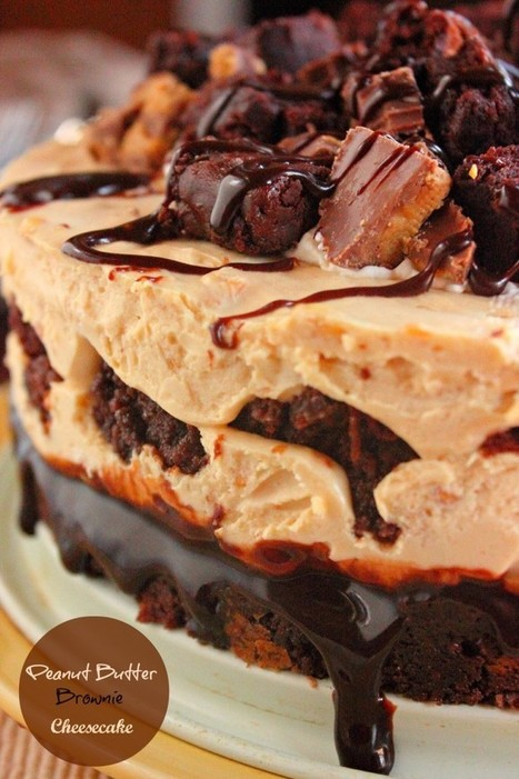 #RECIPE - Peanut Butter & Brownie Cheesecake | Delicious food | Scoop.it