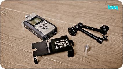 Fixer son Zoom H4N à une tête fluide Manfrotto | Photo & Vidéo avec un DSLR Canon | Scoop.it