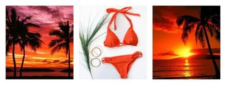Nothing beats a Sunset on the Beach | Luxury Designer Swimwear Fashion | Scoop.it