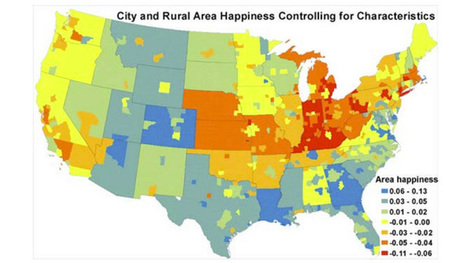 This Map Shows Where the Happiest and Unhappiest People Live in the US | Geospatial Pro - GIS | Scoop.it