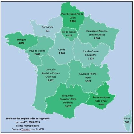 Dans quelles régions les ETI créent-elles le plus d'emplois? | Croissance et références du groupe VISIATIV | Scoop.it