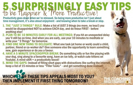 5 Surprisingly Easy Tips To Get Focused, Be Happier and More Productive | Success | Scoop.it