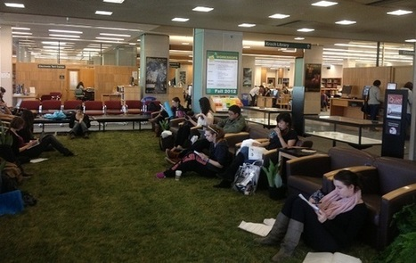 """Libraries going """"green"""" : Cornell Puts a Lawn in the Library 
