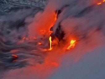 Man braves 2,000-degree lava flows for amazing photos   Elevating Our Collective Humanity   Scoop.it