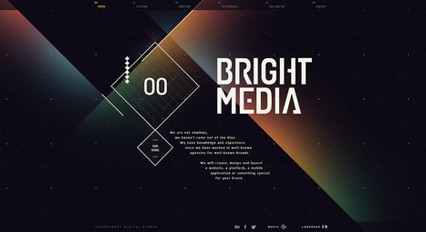 BrightMedia - Site of the Day January 22 2014 | LandingPageIdeas | Scoop.it