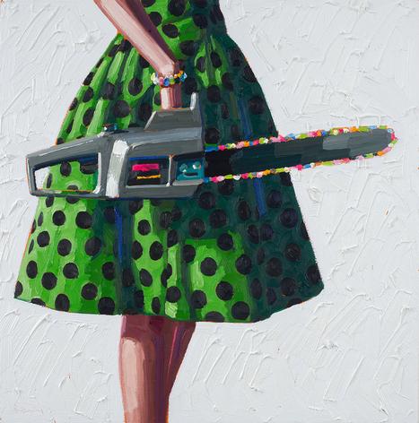 Painterly #Juxtapositions of Chic #Dresses and #PowerTools Showcase #Modern #Femininity #art #painting | Luby Art | Scoop.it