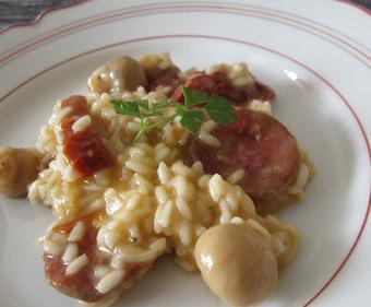GARFICOPO: Risoto de Tomate Seco, Cogumelos de Paris e Chouriço de Porco Ibérico | Foodies | Scoop.it