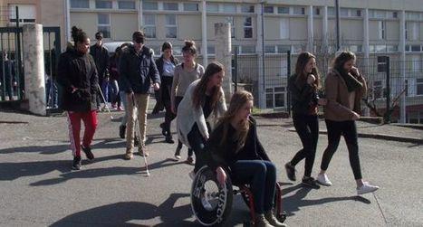 R.-Savignac met les lycéens en situation de handicap | Revue de presse des Lycées Raymond Savignac - Villefranche de Rouergue | Scoop.it