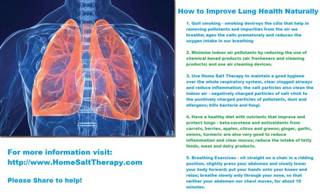 How to Improve Lung Health Naturally | Home Salt Therapy and Saltair Salinizer Tips for Best Results | Scoop.it