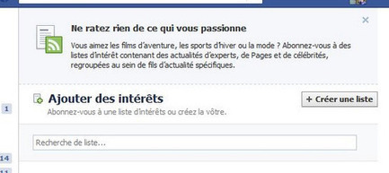 Facebook : les Listes d'Intérêts pour tout regrouper | Think Digital - Tendances et usages des médias sociaux | Scoop.it