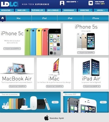 Les produits Apple font leur apparition chez LDLC.com   Rich Media & e-Commerce   Scoop.it