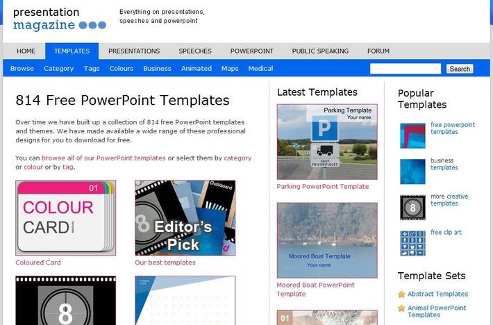 813 Gratis PowerPoint templates (sjablonen) en achtergronden | Edu-Curator | Scoop.it